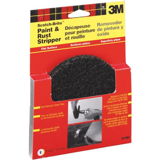 3M Scotch-Brite 5 In. 3/4 In. Paint Removal Disc