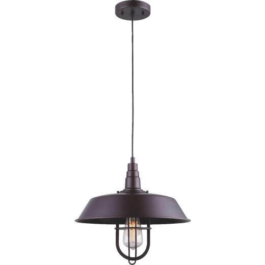 Home Impressions 1-Bulb Oil Rubbed Bronze Incandescent Vintage Style Pendant Light Fixture