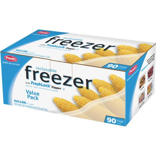 Presto 1 Gal. Reclosable Freezer Bag (90 Count)