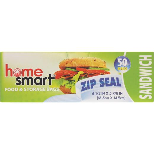 Home Smart Zip Seal Sandwich Bag (50-Count)