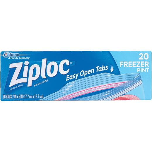 Ziploc 1 Pt. Double Zipper Freezer Bag (20 Count)