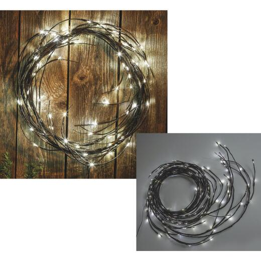 Paradise 9 Ft. 80-Light White Bulb Garland Branch Patio Light Set